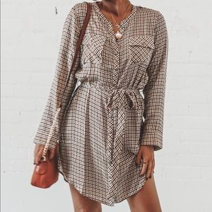 CHASER Button Front Henley Shirttail Hi Low Dress